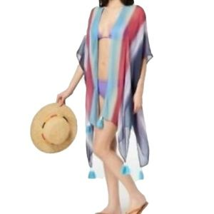 Cejon Rainbow By The Sea Boho Topper Swimsuit Cove